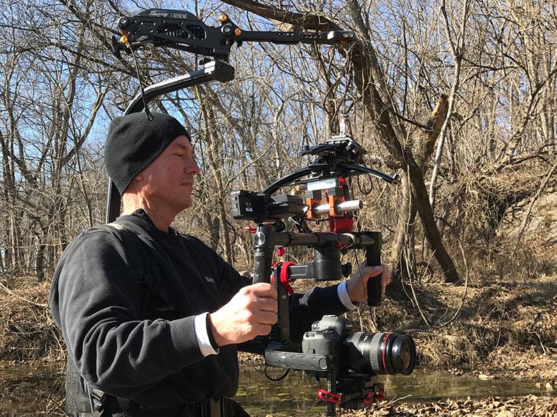 Mark LaBoyteaux on set
