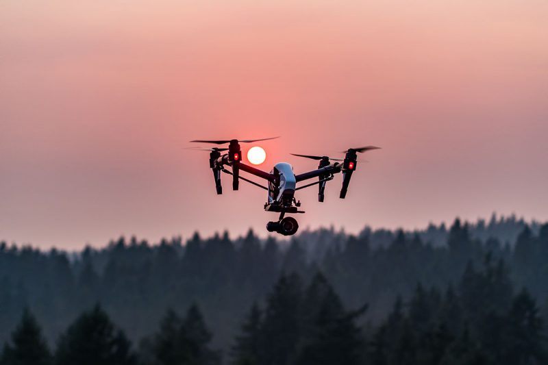 DJI Inspire Drone at Sunset